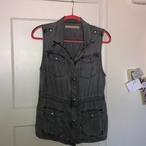 Max Jeans Grey Denim Vest